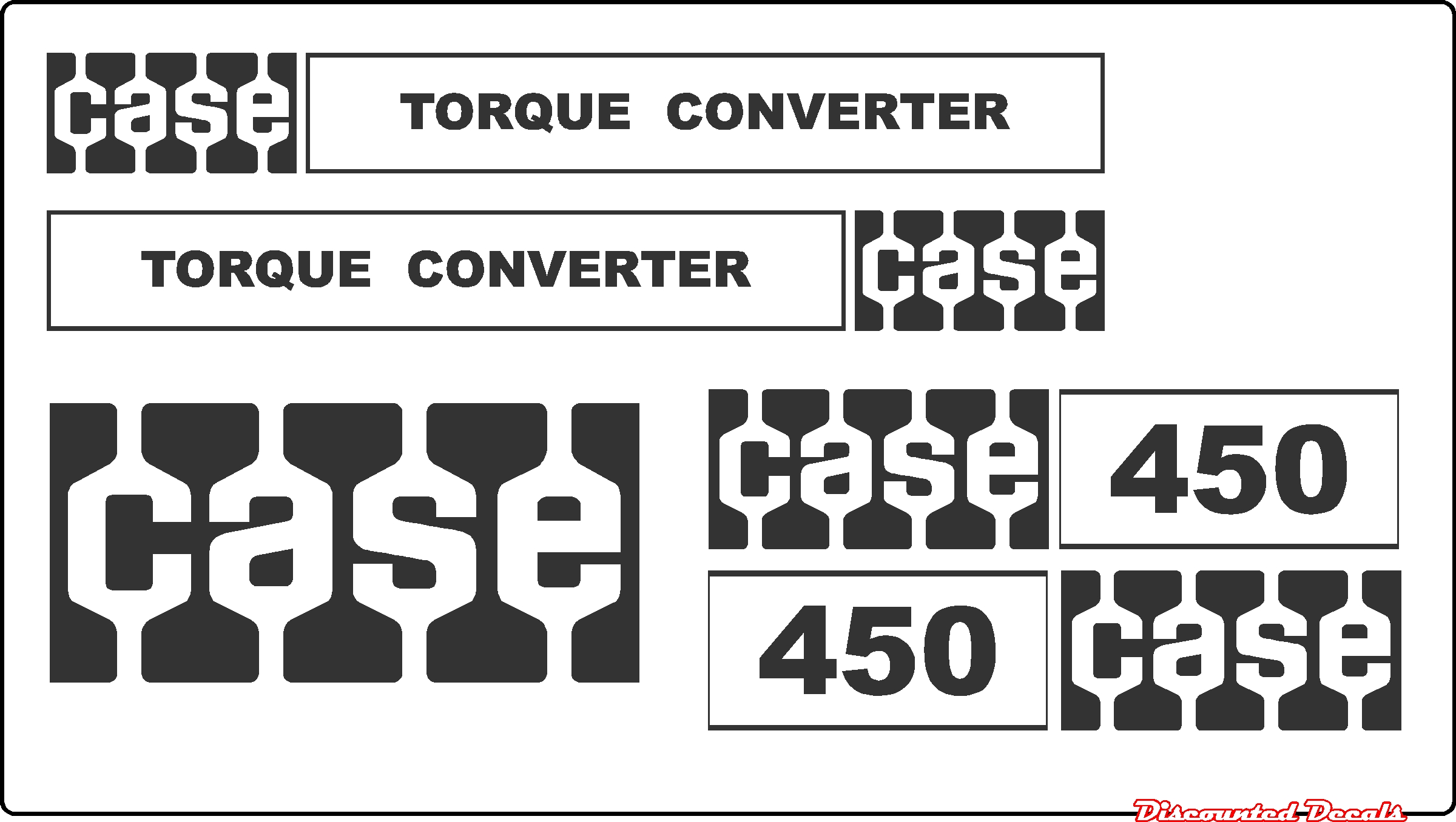 7250 Case Decal Kits : Case tc old style dozer new replacement decal kit