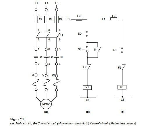 3 Phase Motor Starter Relay Wiring Diagram Single Phase AC