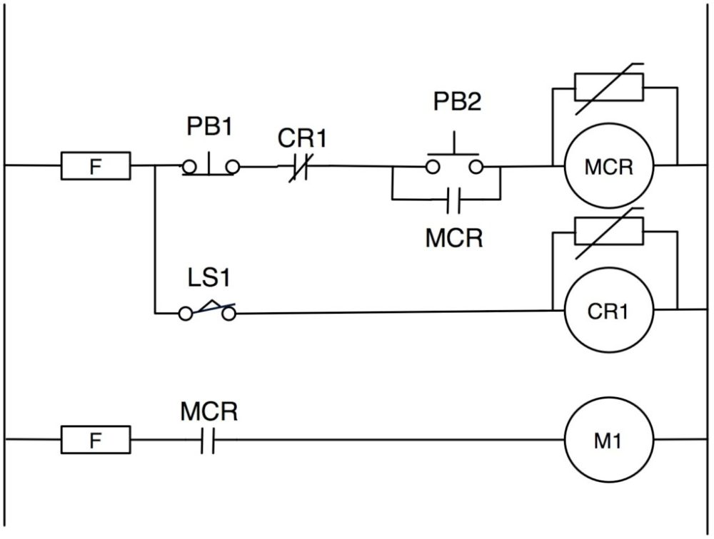 medium resolution of figure 2 old school start stop circuit with guard relay