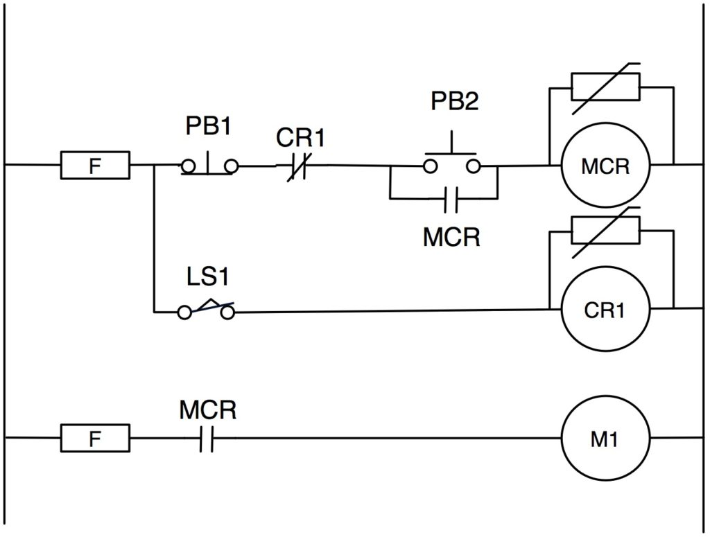 hight resolution of figure 2 old school start stop circuit with guard relay
