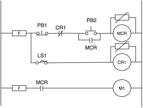 small resolution of figure 2 old school start stop circuit with guard relay