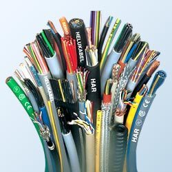 A picture showing a selection of wire and cable products