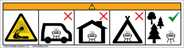 Example Grill Industry Wordless Safety Label
