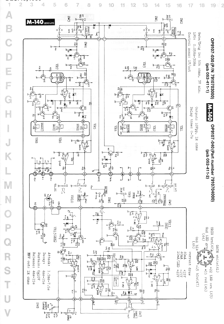 Music Machines: System-100m/schematics