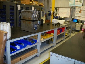 Steel Table for Maintenance and Storage.