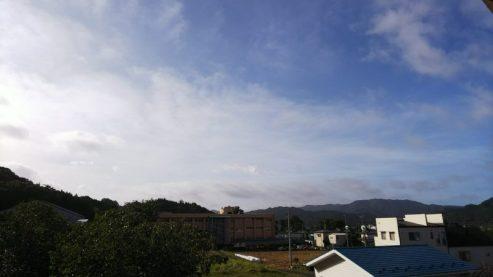 朝7時ころ、自宅からの眺め(東舘 女性)