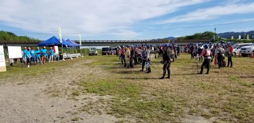 鮎釣り大会のスタッフやらせてもらいました。意外と出てこない開会式の一枚(内川・男性)
