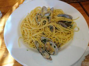 まちしるべ・まちレポ!松戸「ポルポ」あさりのスパゲティ