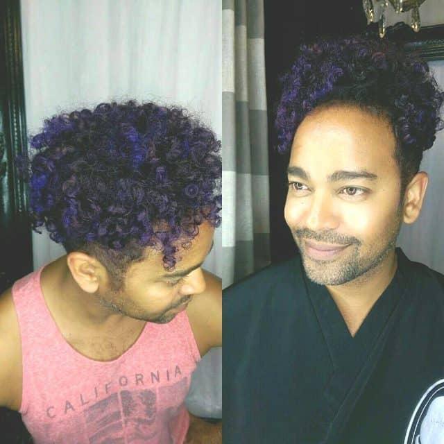 Hair Color Blue Black For Men