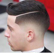 stylish hard part haircut ideas