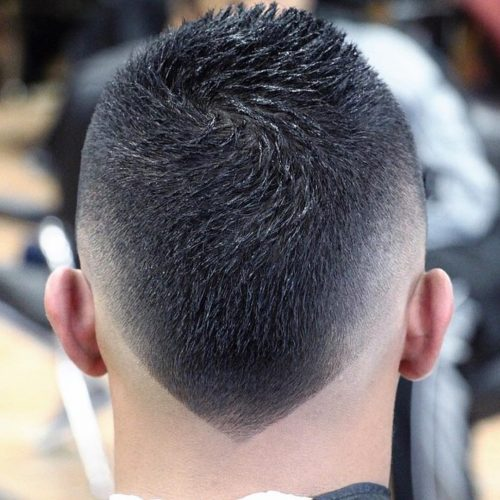 Short Men Face Hairstyle Round Mohawk