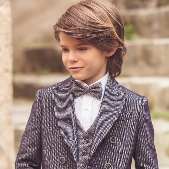 Little Boys Hairstyles Plaid Interiors Vest Toddlers Haircuts Long Peacoats Hair Cut
