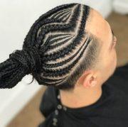 masculine braids long hair