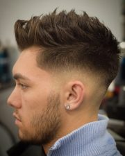 rugged faux hawk hairstyle