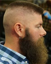 exquisite flat top haircut design