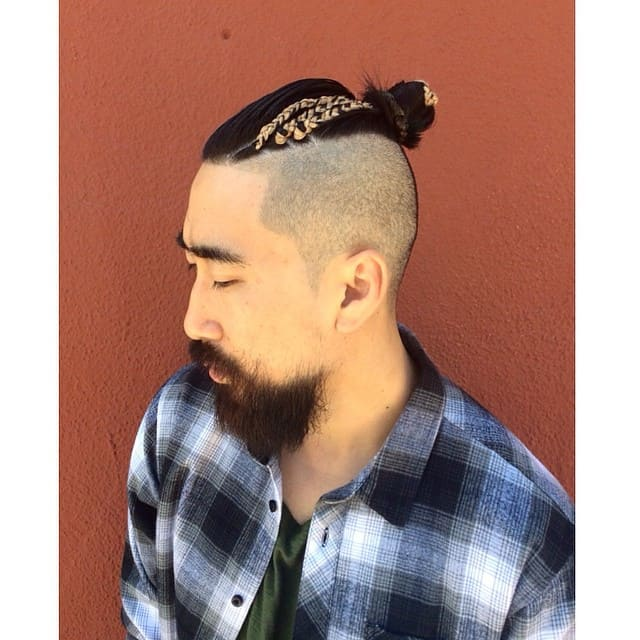 50 Brilliant Braided Buns For Men Double The Style 2018