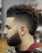 stunning curly mohawk design