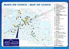Mapa de Cusco ou Cuzco