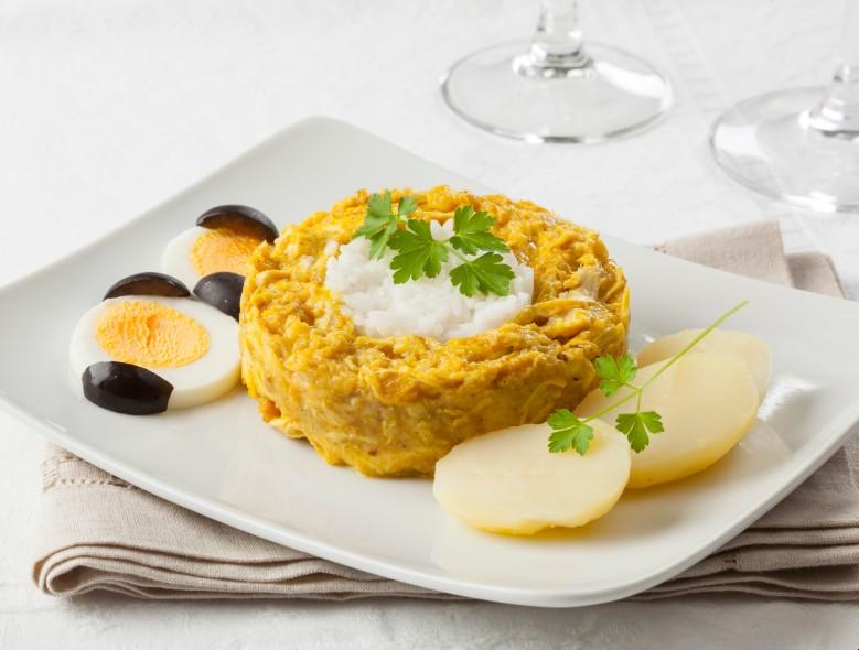 comidas típicas do peru: aji de galhina