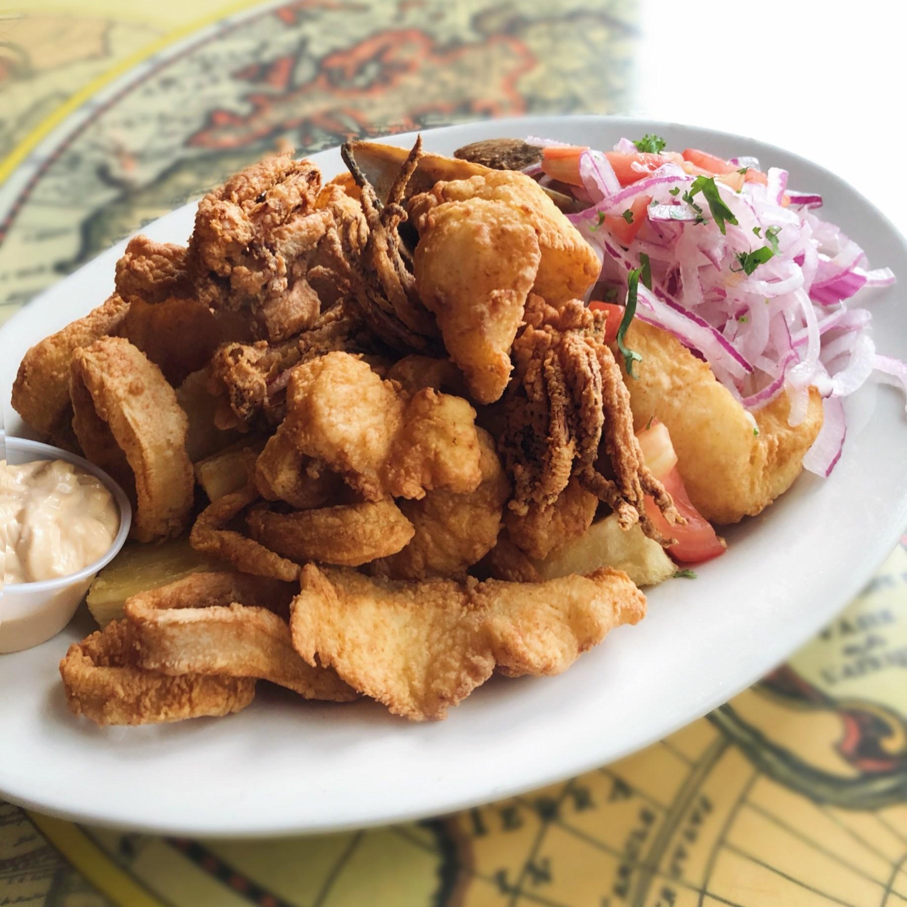Jalea Mixta fried seafood platter