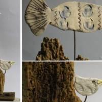 Verkehrte Welt im Riff - Keramik auf Fundholz