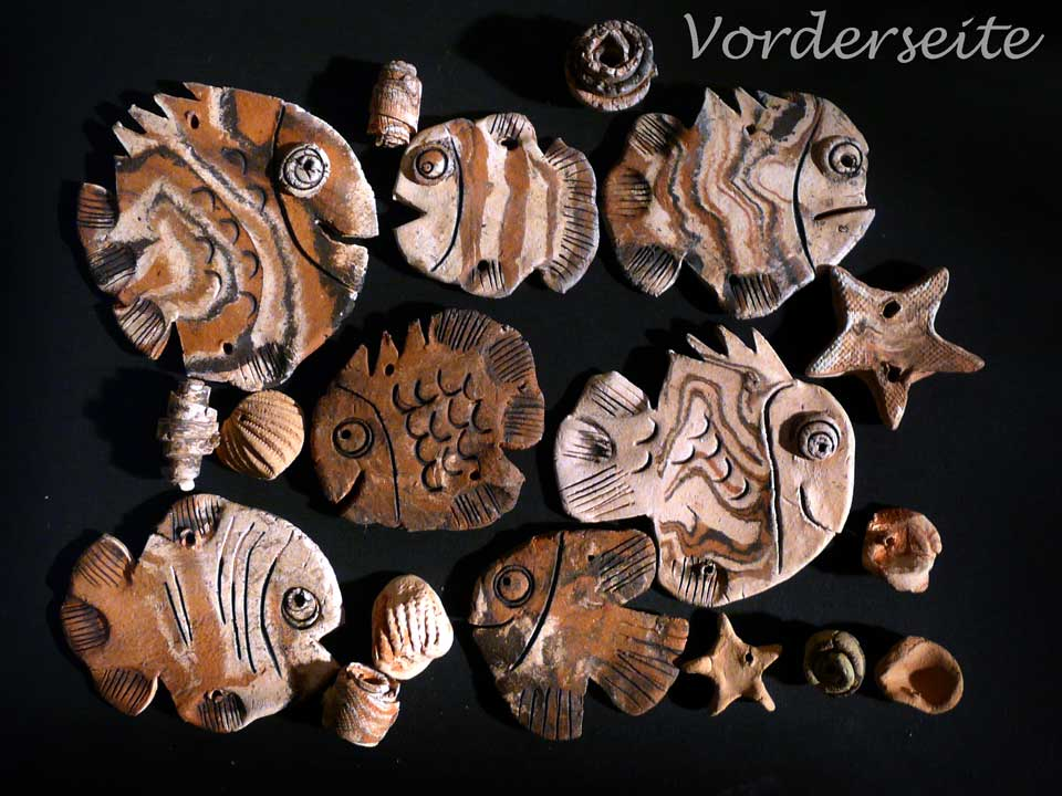 Mobile Windspiel Fische Keramik Bausatz Basteln DIY