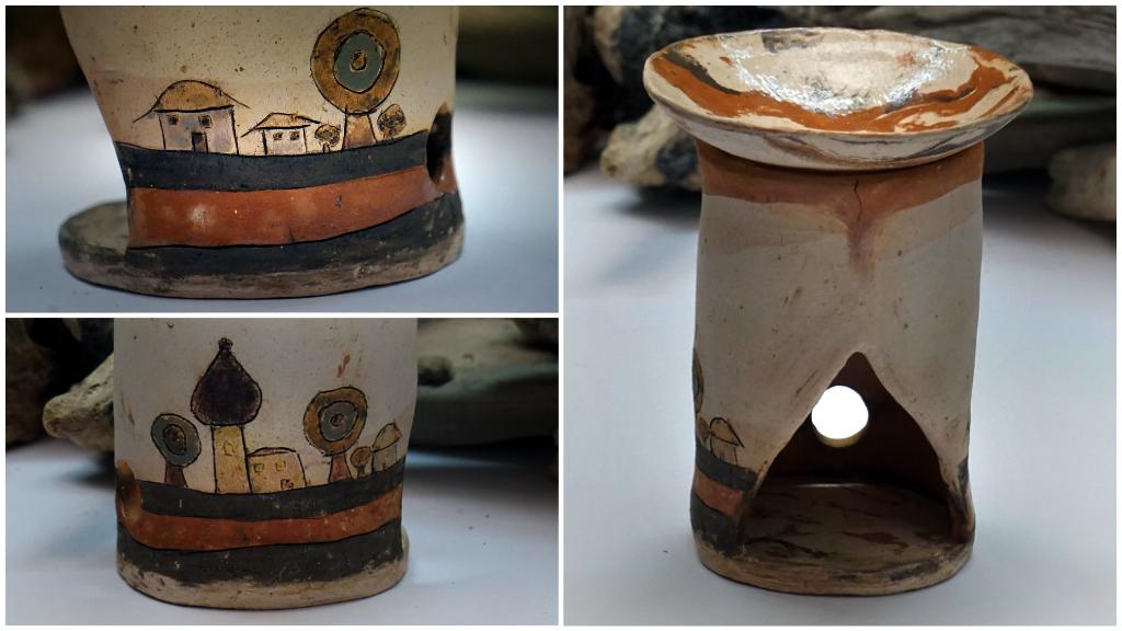 """Duftlampe mit kleiner Landschaft von """"aliton"""" aus unserer Machwerkstatt"""