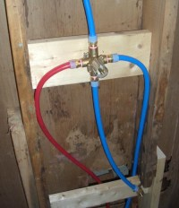 New Shower Valve's installed using PEX Pipe...