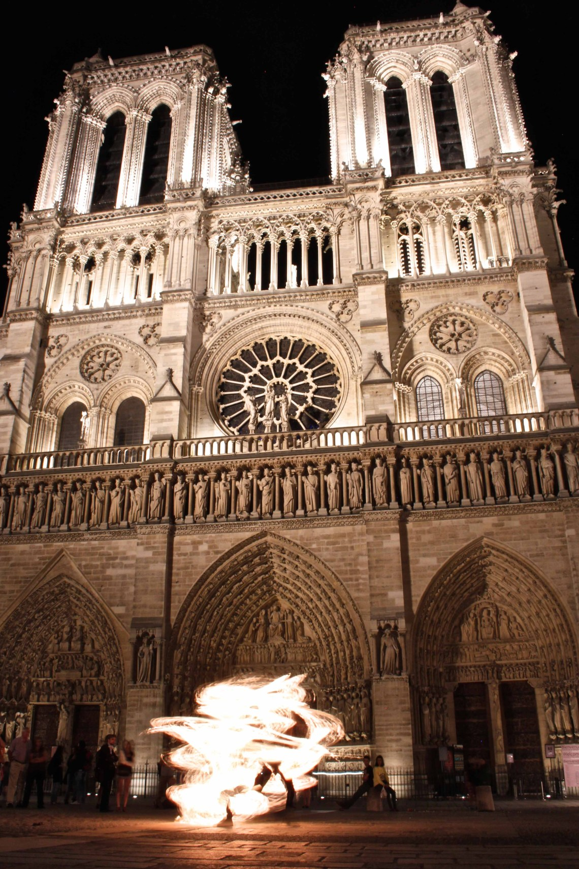 Notre Dame de Paris, Fire Dance, Fire Dancer, Paris, France, photo challenge