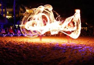 Cancun, Mexico, Fire Dancer, Beach, Ocean, Dance