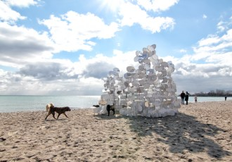 Buoybuoybuoy, The Beaches, Toronto, Art Festival, Winter Stations, Contest, White, Reflective, Art