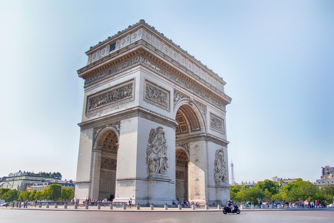 Arc de Triomphe, Paris, France, Street View