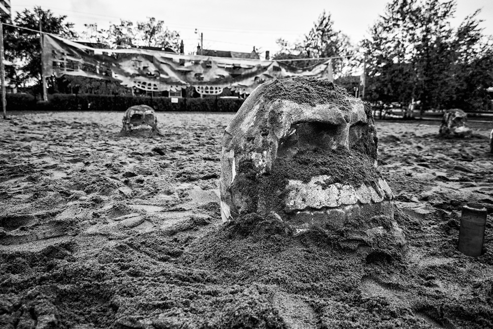 Day of the dead, Skull, Sand, Memorial, Wychwood, Toronto, Halloween