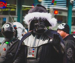 Santa, Darth Vader, Christmas, Parade