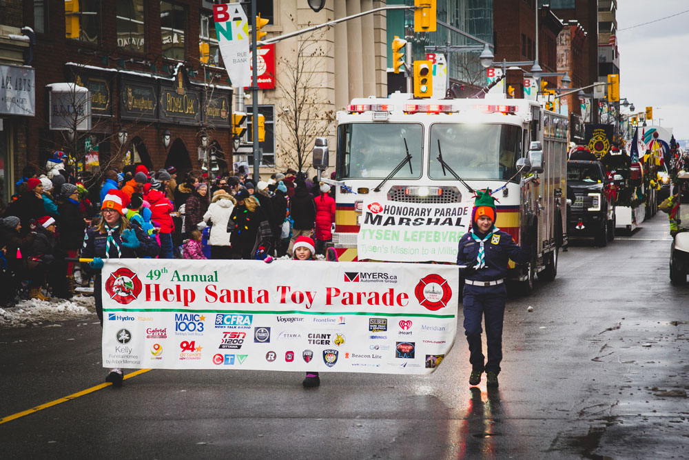 Banner, Santa Clause, Parade