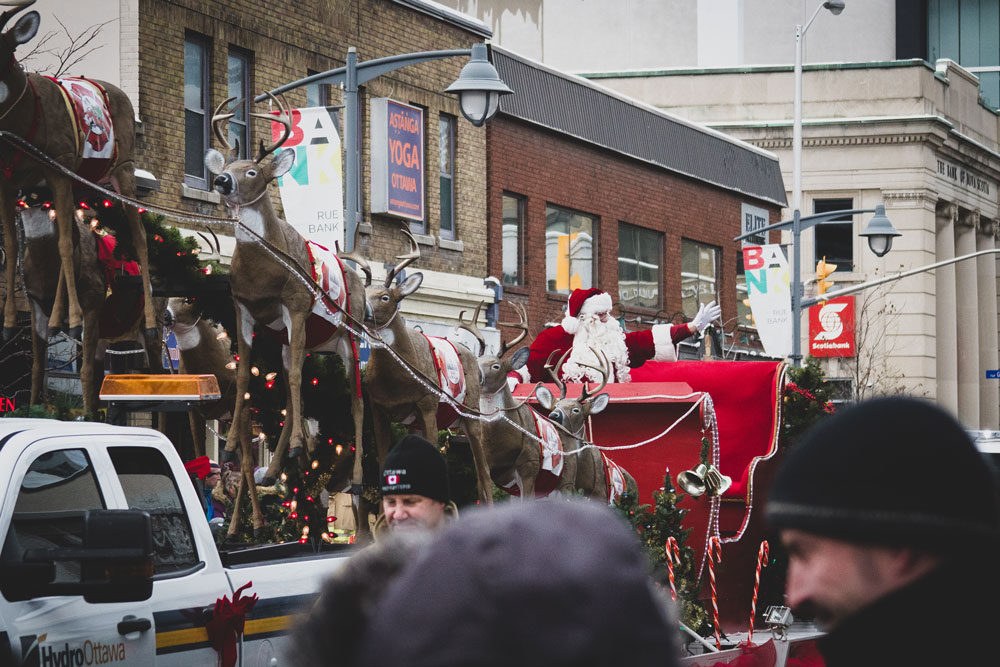 Santa, Santa Clause, Parade, Ottawa, Christmas, Holiday