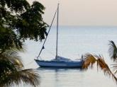 Flash Dancer on anchor at Lake Shore Lodge - Lake Tanganyika