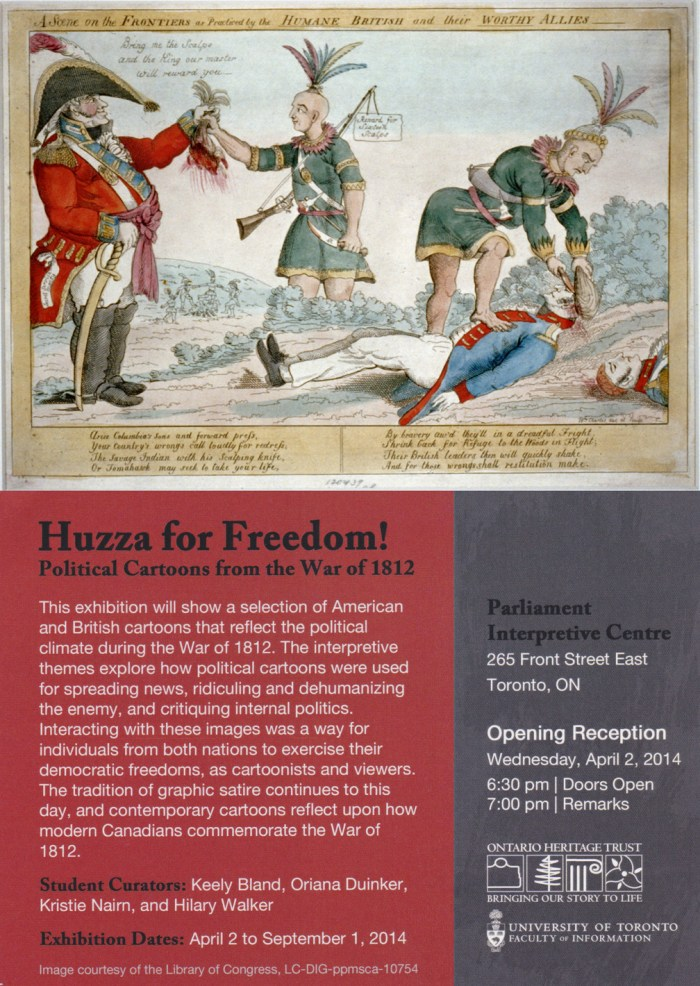 Huzza For Freedom Show: April 2 to Sept 1 2014