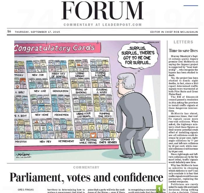 (Regina) Leader Post, September 17, 2015