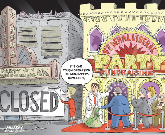 Editorial Cartoon by Graeme MacKay, The Hamilton Spectator Ð