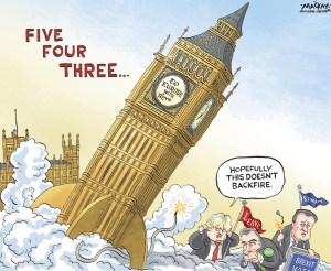 Editorial Cartoon by Graeme MacKay, The Hamilton Spectator Ð Wednesday June 22, 2016 ÔBrexitÕ Vote Will Change Europe, No Matter the Outcome If the U.K. decides in ThursdayÕs referendum to leave the European Union, it would shake the continent to its political foundations. Even if it stays, the bloc may never be the same. A decision to leave, which would be a first by a member nation, would deepen the crisis facing a continent already struggling with economic weakness, debt problems, large-scale migration and growing geopolitical instability to its south and east. At a minimum, politicians and officials say, a British exit would transform the blocÕs balance of power. Negotiations over a new relationship would consume the EUÕs energy at a time when European institutions are struggling to respond to the other problems. A U.K. exit also could disrupt financial markets and fire up anti-EU forces in other countries. Whether or not the U.K. leaves, change is coming. In February, U.K. Prime Minister David CameronÊstruck a deal with the rest of the EU to restrict migrant benefits and detach Britain from the blocÕs push for an Òever closer union.Ó Mr. CameronÕs effort to claw back power from Brussels, coupled with the referendum at home, is an approach that other European politicians are promising to follow, potentially fragmenting the bloc further. The referendum, at a minimum, has delivered a shock to EuropeÕs political classes, calling into question what some had once regarded as an inevitable march toward a federal EU. ÒObsessed with the idea of instant and total integration, we failed to notice that ordinary people, the citizens of Europe, do not share our Euro-enthusiasm,Ó European Council President Donald Tusk observed in a speech in late May. ÒThe specter of a breakup is haunting Europe, and a vision of a federation doesnÕt seem to me like the best answer to it.Ó (Continued: Wall Street Journal)Êhttp://www.wsj.com/articles/brexit-vote-will-change-europe-no-mat
