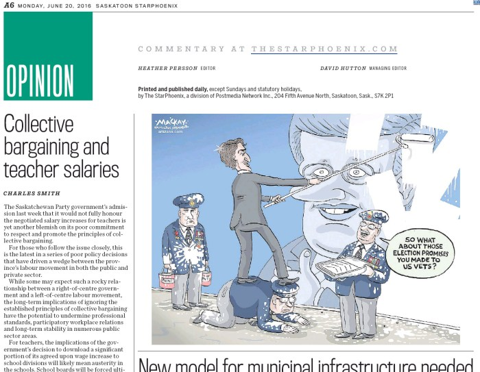 Published in the Saskatoon Star-Phoenix