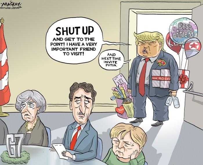 Картинки по запросу G7 Trump cartoon