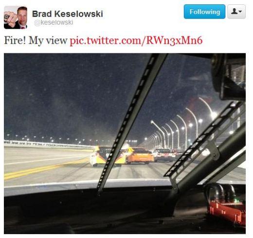 Brad Kesolowski, Twitter, Daytona 500, Fire, Tide