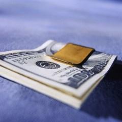 Hundred Dollar Bills Folded in a Money Clip