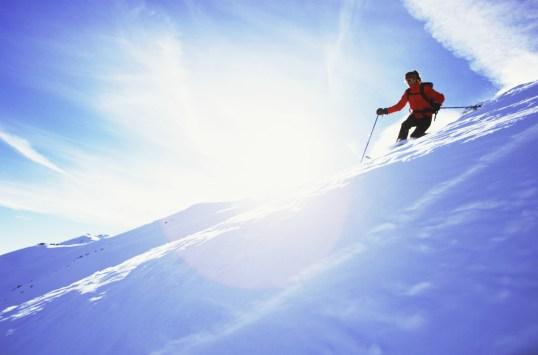 Skiing Towards the Sun