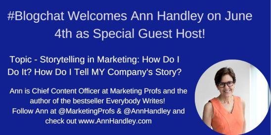 Ann Handley joins #Blogchat