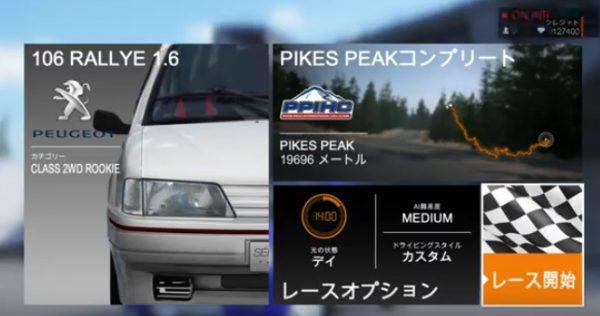 パイクスピーク、初めての走行で初優勝,ローブラリー