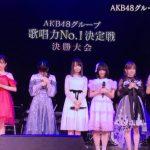 AKB48歌唱力ナンバーワン決定戦,かの、萌夏、奈々、ベスト3