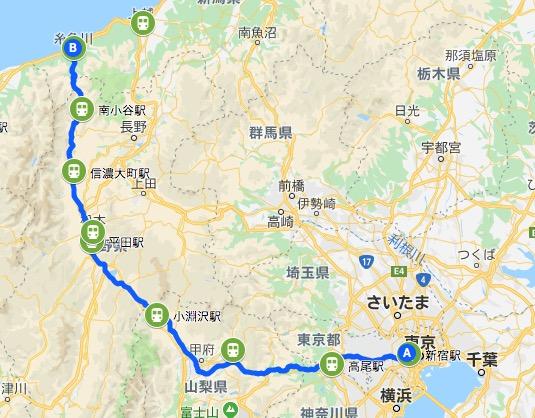 【青春18切符】東京から糸井川まで10時間30